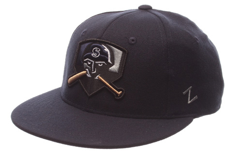 24.95 Flex Fit Game Hats Dark Navy with Salina Logo..more e33d781925e